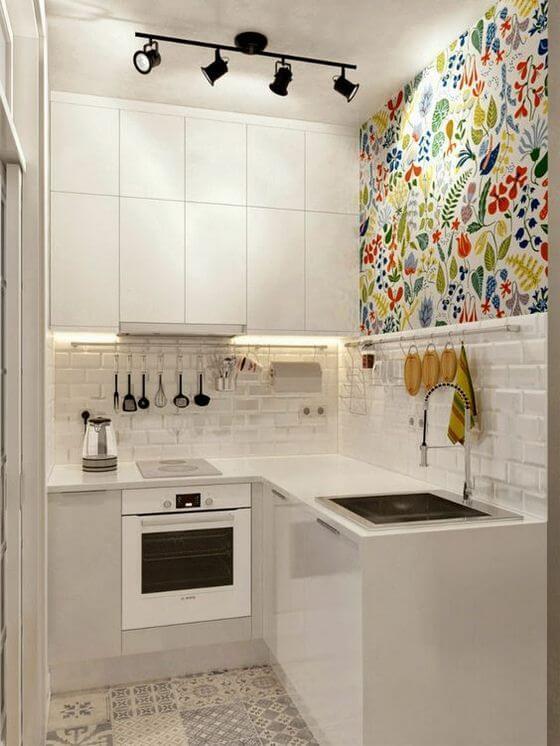 decorando cocina blanco y colores