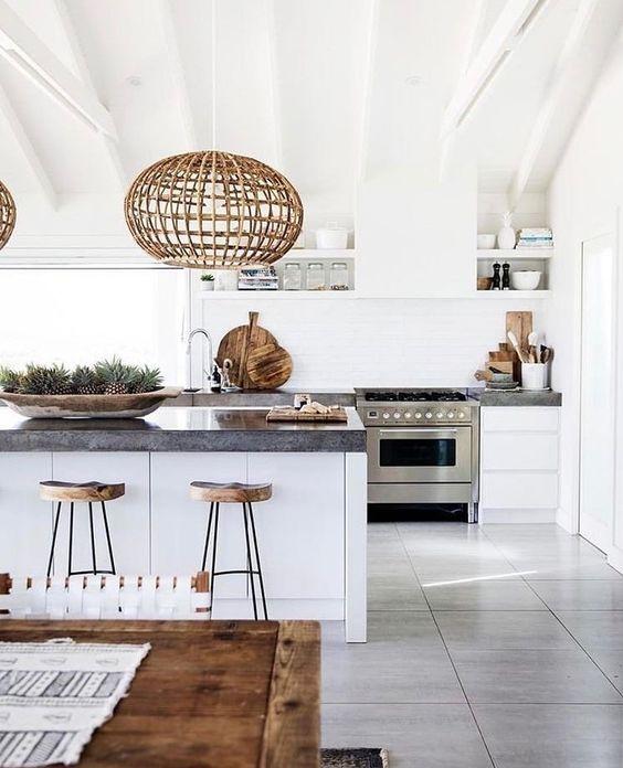 Kitchen Floor Tiles Australia: Cocinas Rústicas De Madera, Piedra, Ladrillo Y Diseños
