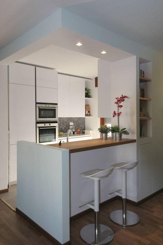 Cocinas minimalistas modernas peque as y grandes estilos 2018 for Cocinas minimalistas pequenas
