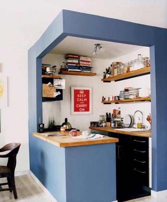 pequeña cocina decorada