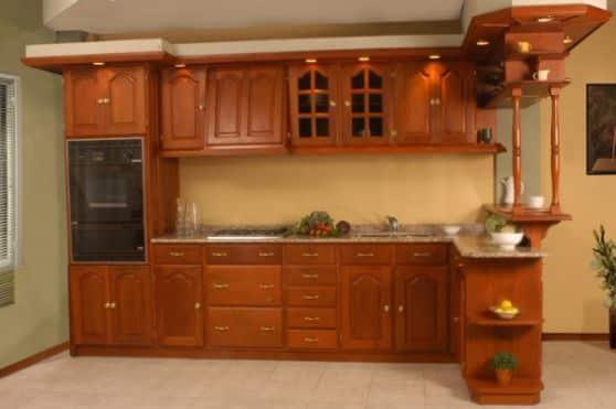 Muebles de madera para cocina dise os r sticos modernos for Modelos de puertas de madera para cocina integral