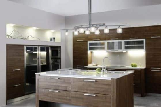 Lamparas Para Cocina Que Le Daran Un Toque Especial A Tu Cocina - Iluminacion-en-cocinas-modernas