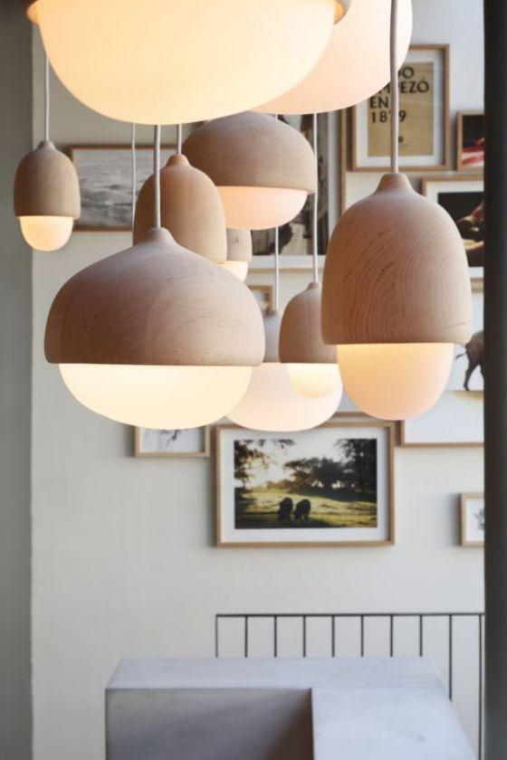 bonito diseño de luces para la cocina