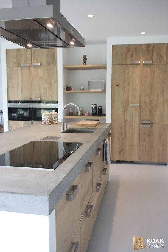 Cocinas de madera dise os r sticos modernos y peque as for Cocinas pequenas industriales