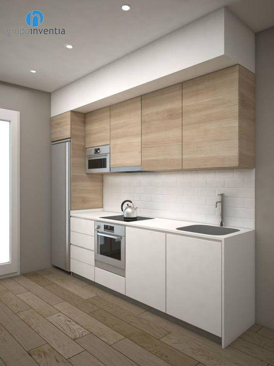 Cocinas de madera dise os r sticos modernos y peque as for Cocinas pequenas disenos modernos
