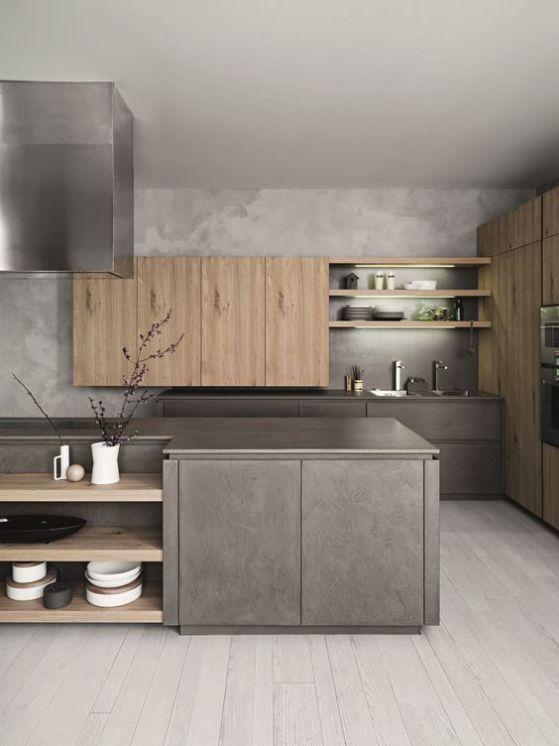 cocinas elegantes de madera