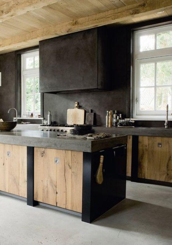 cocinas elegantes diseño madera