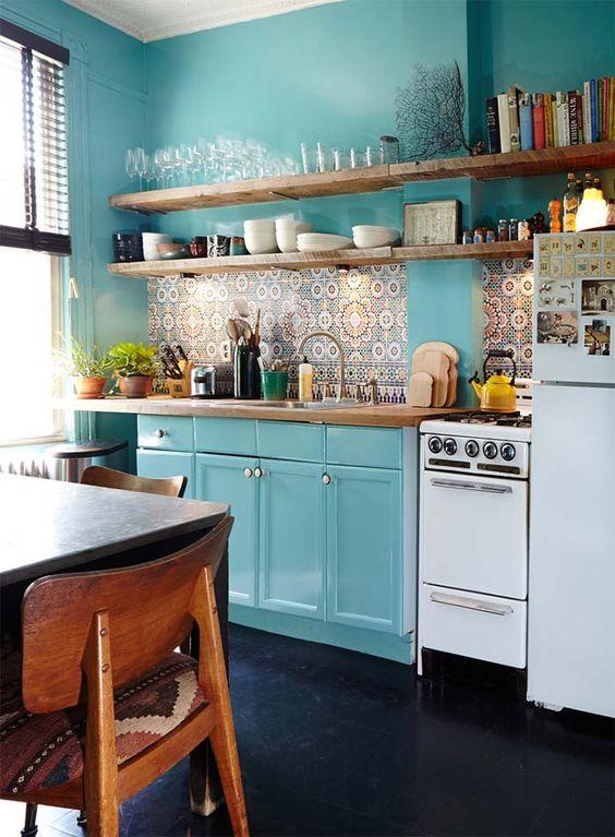 Colores para cocinas las mejores combinaciones para cada estilo - Muebles para cocina pequenas ...