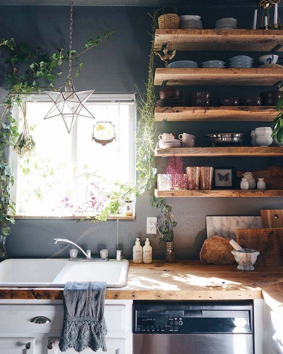Cocinas integrales modernas grandes y peque as para el 2019 - Cocinas rusticas de madera ...