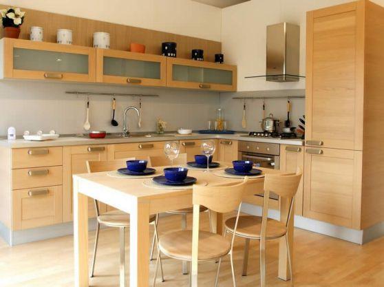 Cocinas de madera dise os r sticos modernos y peque as for Muebles de cocina de madera modernos