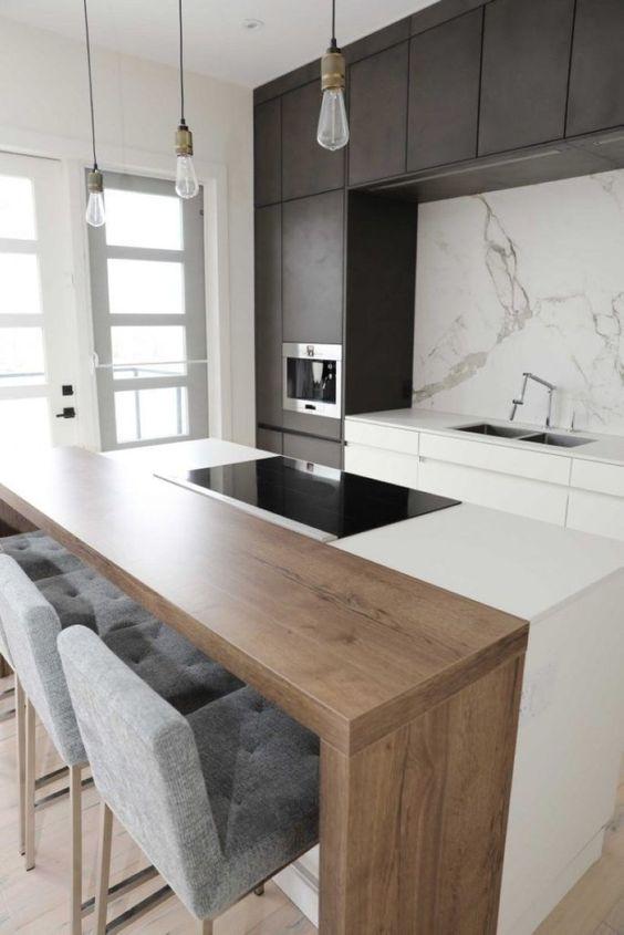 Dise os de cocinas modernas r sticas empotradas for Disenos de cocinas pequenas con barra