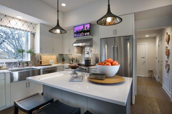 lamparas-de-techo-ideas-modernas-cocina-amplia