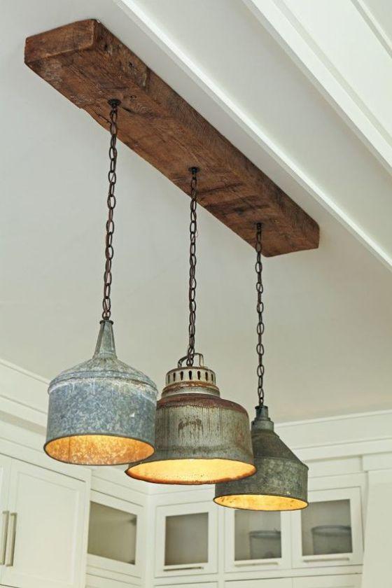lamparas rusticas de cocina
