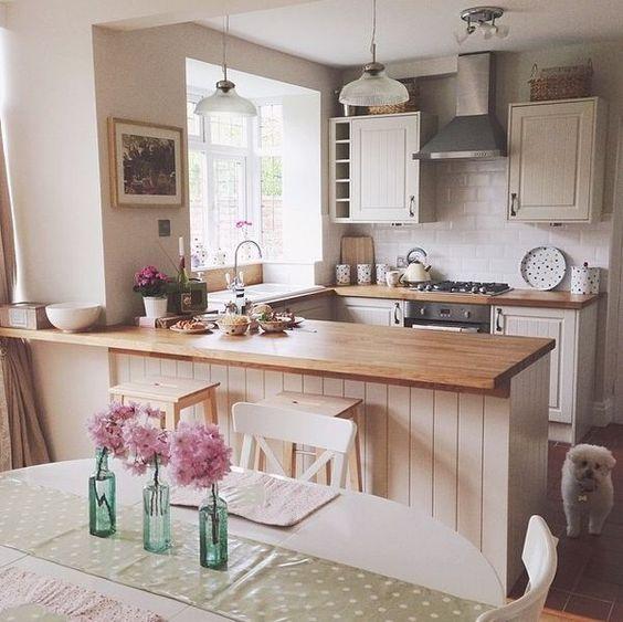 Cocinas de madera dise os r sticos modernos y peque as for Cocinas actuales pequenas
