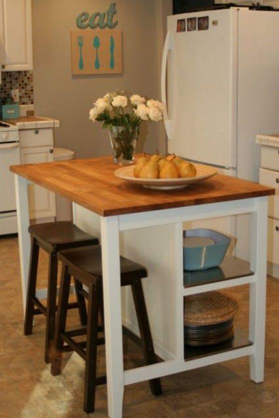 Muebles de madera para cocina dise os r sticos modernos y m s - Mesa de cocina pequena ...