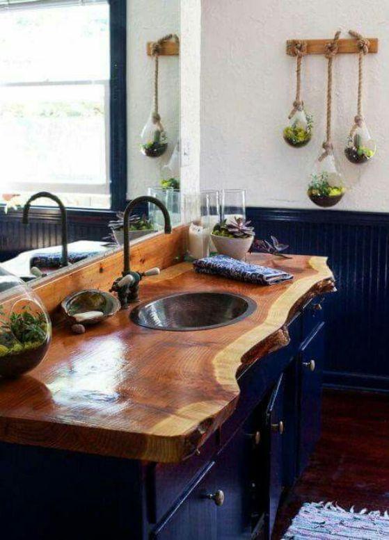 mesa principal de madera