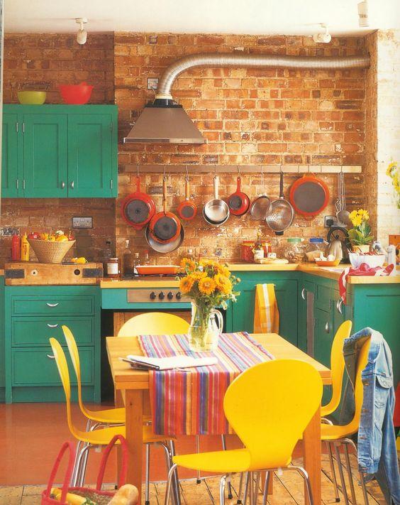 Muebles De Madera De Colores (2)