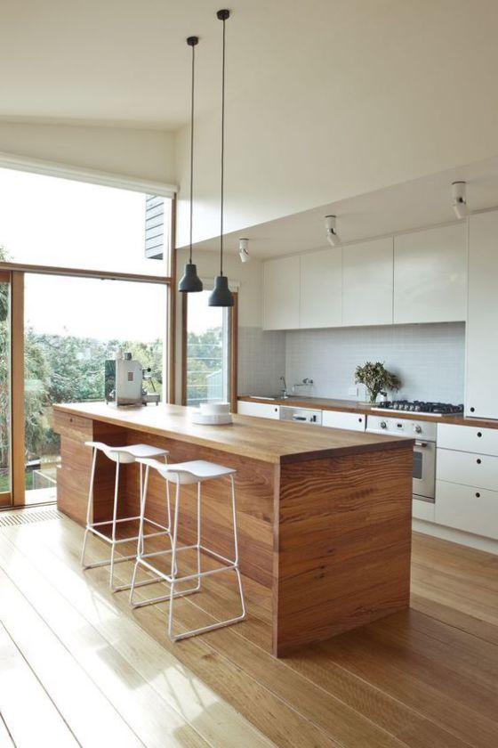 Muebles de madera para cocina dise os r sticos modernos for Muebles de cocina americana modernos