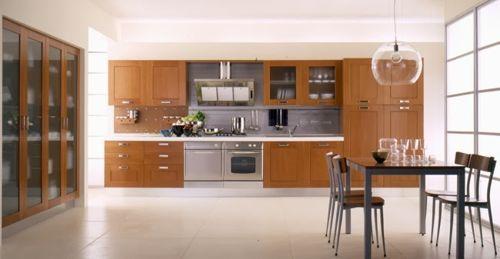 Cocinas de madera dise os r sticos modernos y peque as for Disenos de muebles de cocina colgantes
