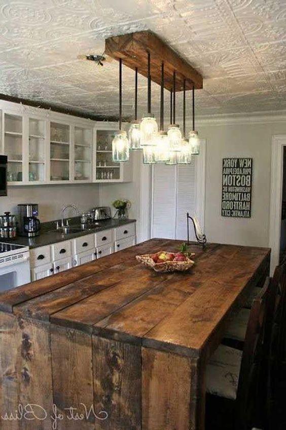 Muebles de madera para cocina dise os r sticos modernos for Muebles rusticos de madera