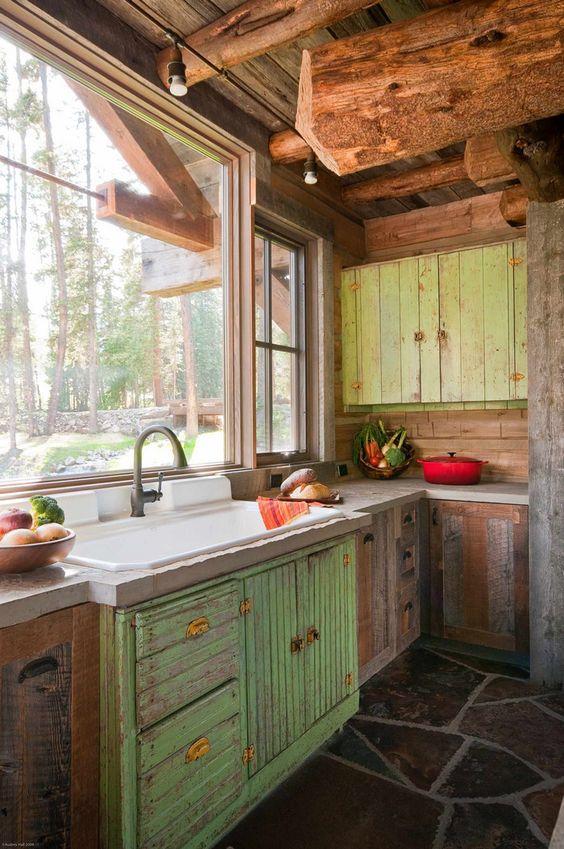 Muebles de madera para cocina dise os r sticos modernos for Disenos de muebles de cocina colgantes