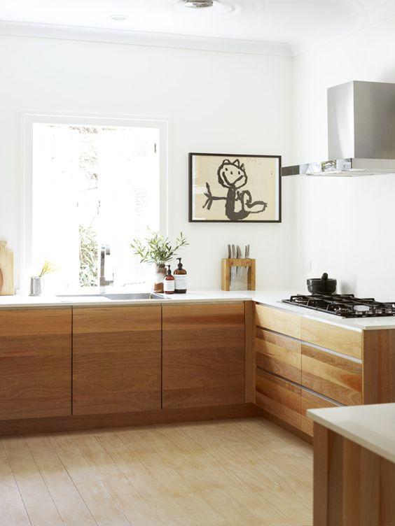 Muebles de madera para cocina dise os r sticos modernos for Muebles practicos para casas pequenas