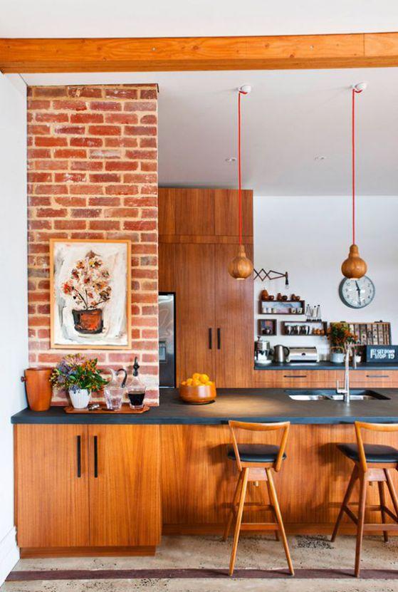 Muebles de madera para cocina dise os r sticos modernos for Vistas de cocinas