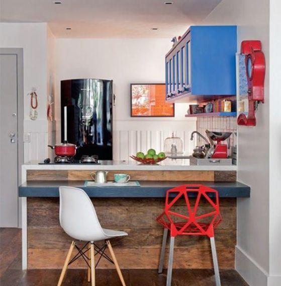 Cocinas americanas con modelos e ideas para el 2019 for Modelos de muebles de cocina para espacios pequenos