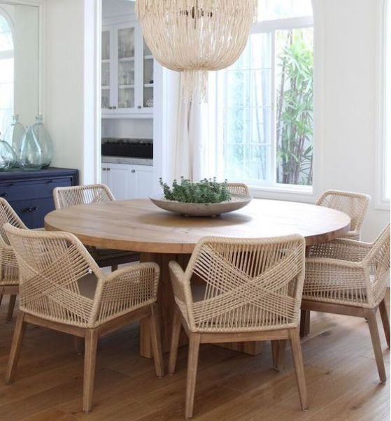 bonitas sillas de mimbre y madera