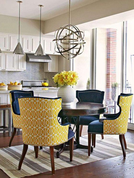 bonitas sillas tapizadas en 2 tonos