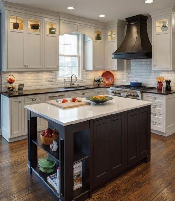 cocina americana de madera estilo casero