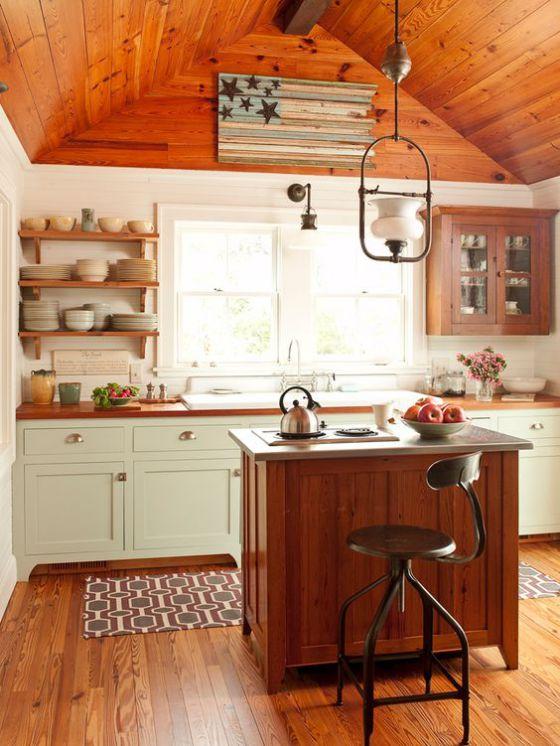 cocina americana estilo rustico