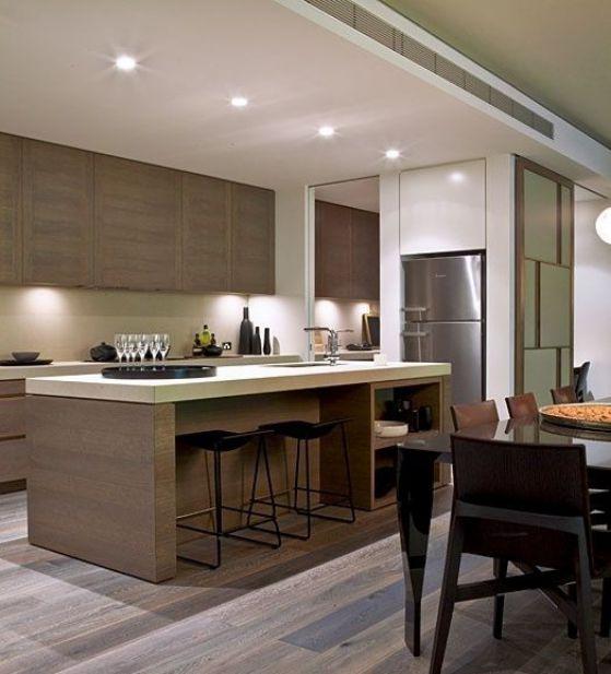 Cocinas americanas con modelos e ideas para el 2018 for Interior cocinas modernas