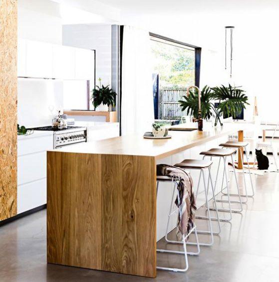 Cocinas americanas con modelos e ideas para el 2018 - Cocinas de madera modernas ...