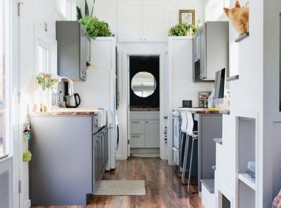 Cocinas americanas con modelos e ideas para el 2018 for Cocinas clasicas pequenas