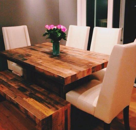 Comedores de madera dise os e ideas perfectos para el 2018 - Mesas para comedores pequenos ...
