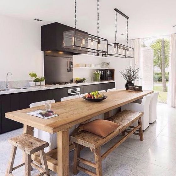 17 Best Ideas About Kitchen Island Table On Pinterest: Comedores De Madera Diseños E Ideas Perfectos Para El 2018