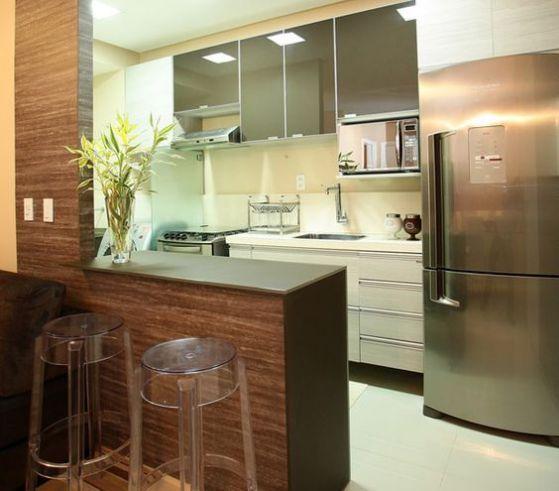 Cocinas americanas con modelos e ideas para el 2018 for Modelos de cocinas pequenas para apartamentos