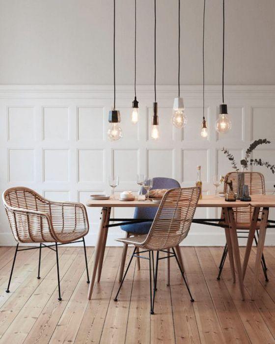 sillas de mimbre para comedor