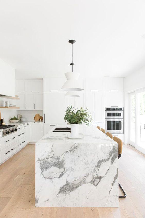 Cocinas Modernas Blancas (9)