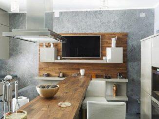 Cocinas Con Barra De Madera