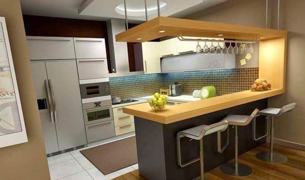 Cocinas Con Barra Madera O Cemento La Eleccion Es Tuya