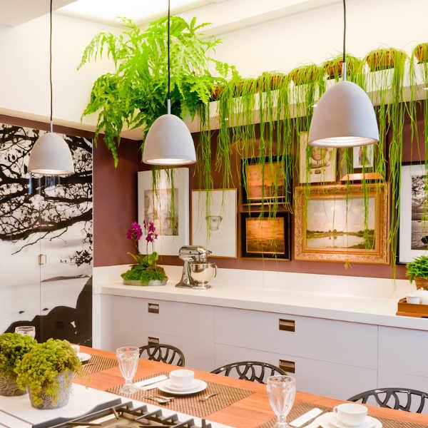 Bella Cocina Decorada Con Cuadros Y Plantas
