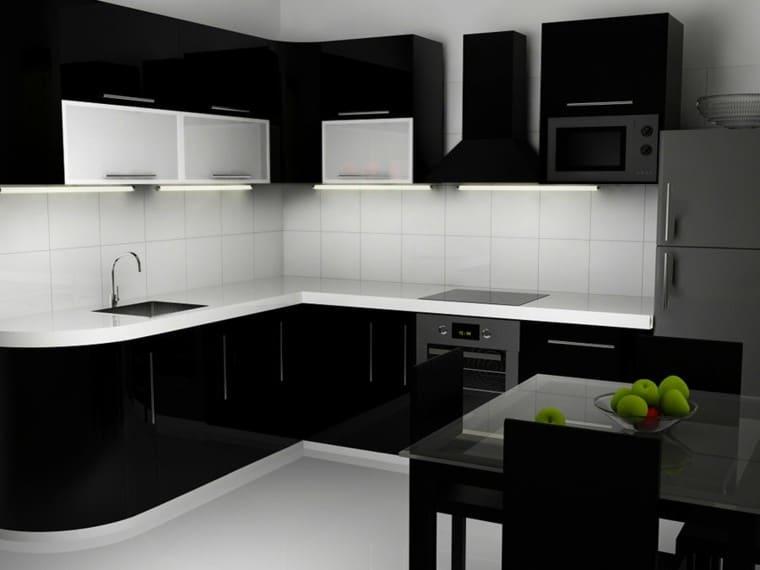 Cocinas Blancas Negras Estantes