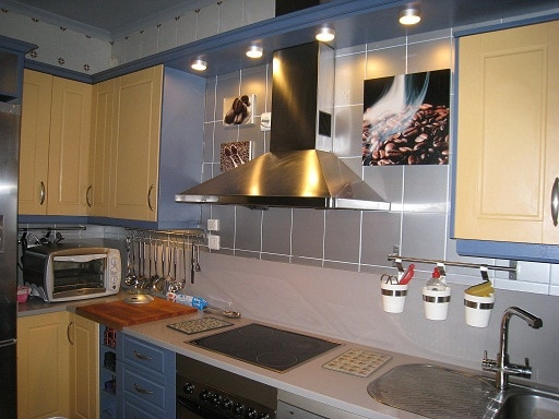 Cocinas Con Azulejos Pintados Materiales De Construccion
