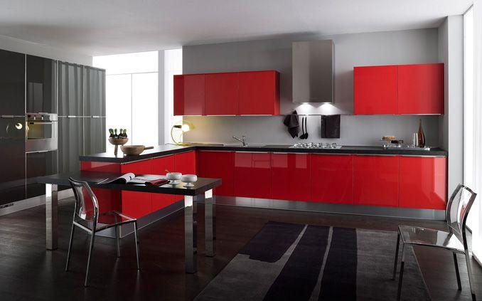 Cocinas Negras Rojo