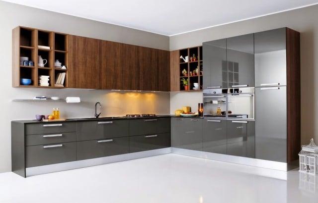 Colores La Cocina Modelo Gris Metalizado Madera