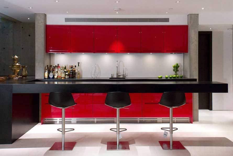 Diez Cocinas En Rojo Negro Y Blanco1