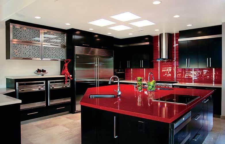 Diez Cocinas En Rojo Negro Y Blanco2