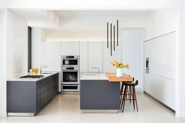Elegantes Cocinas En Blanco Y Gris 02